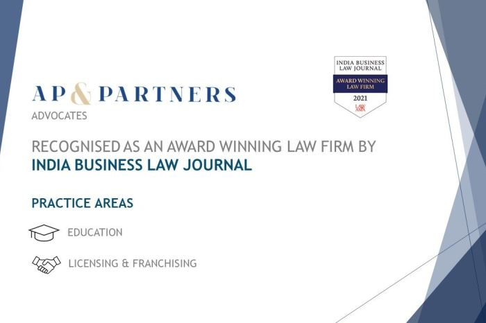 AP & Partners recognized as an award-winning law firm by IBLJ